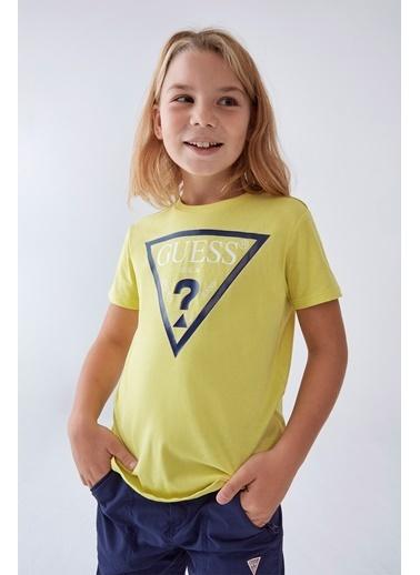 Guess Erkek Çocuk Sarı T-Shirt Sarı